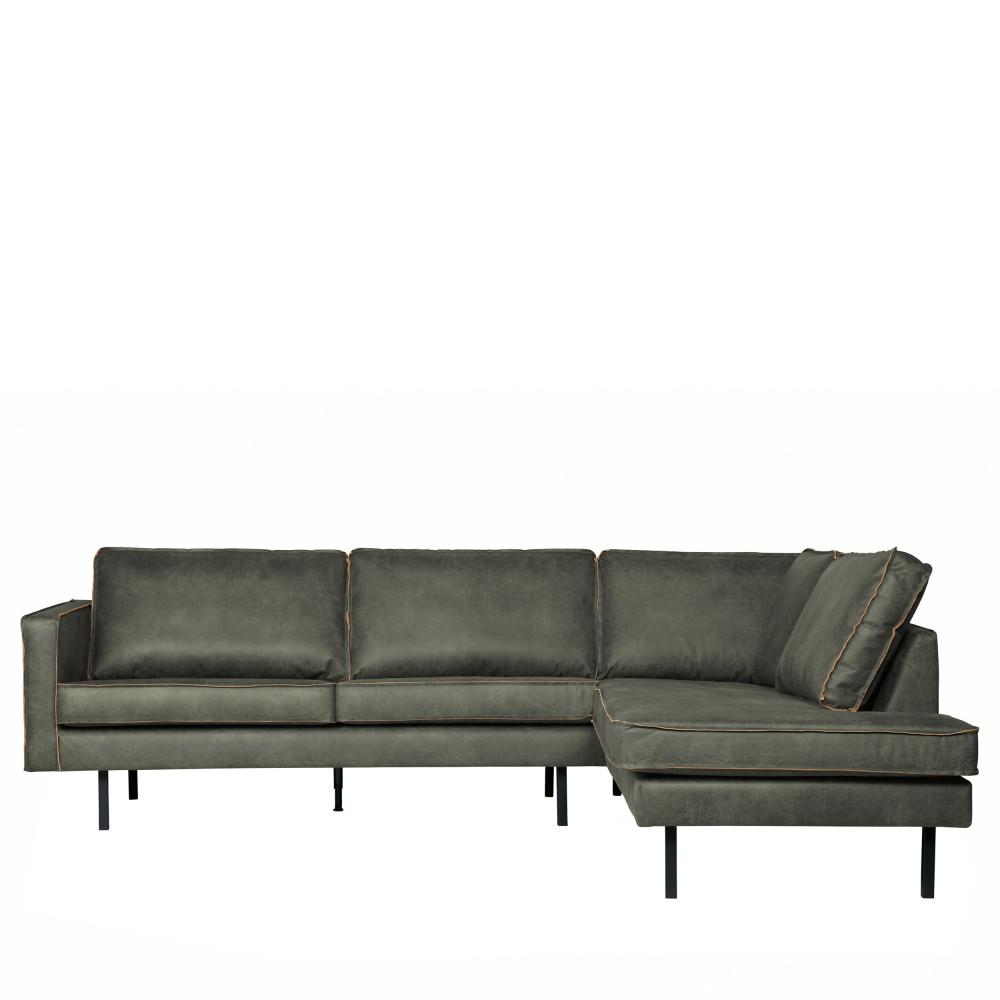 Canapé d'angle Noir Cuir Luxe Design