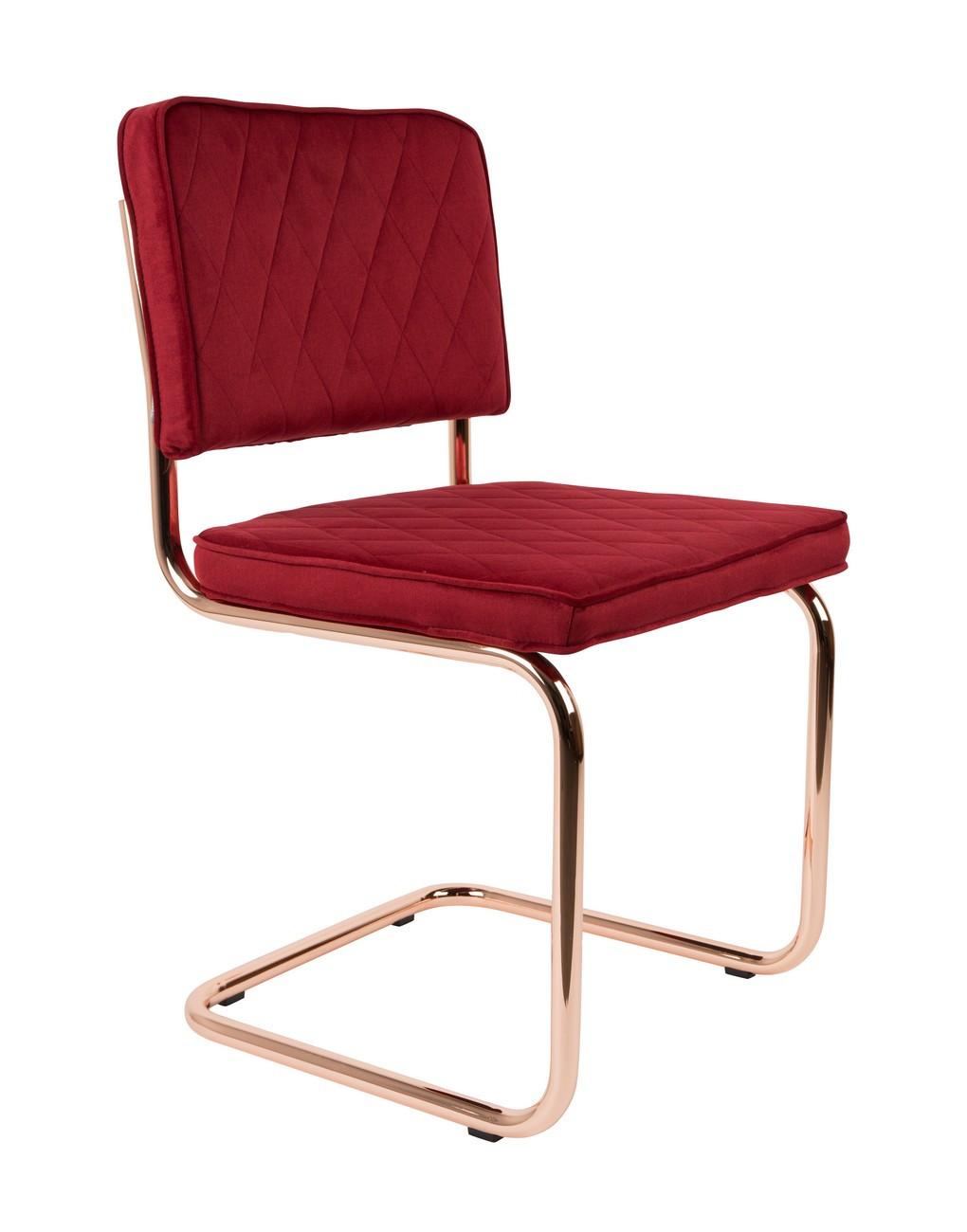 Chaise en tissu Rouge Royal