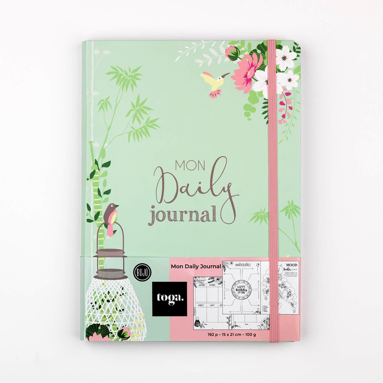 Carnet bullet journal motif floral