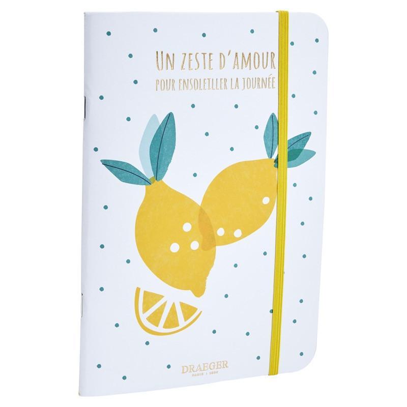 Carnet a5 citrons zeste d'amour