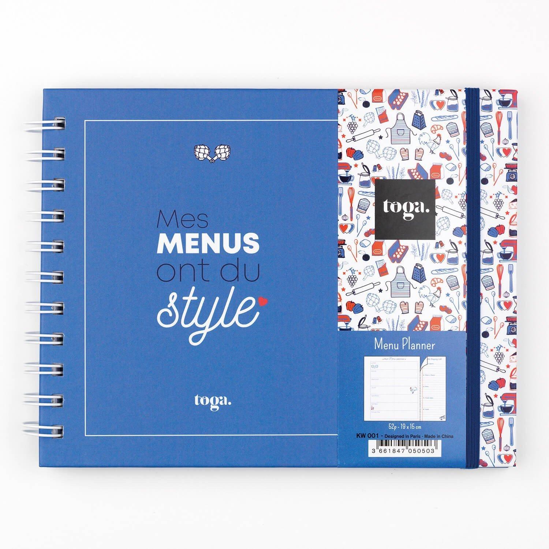 Menu planner mes menus ont du style motif frenchy