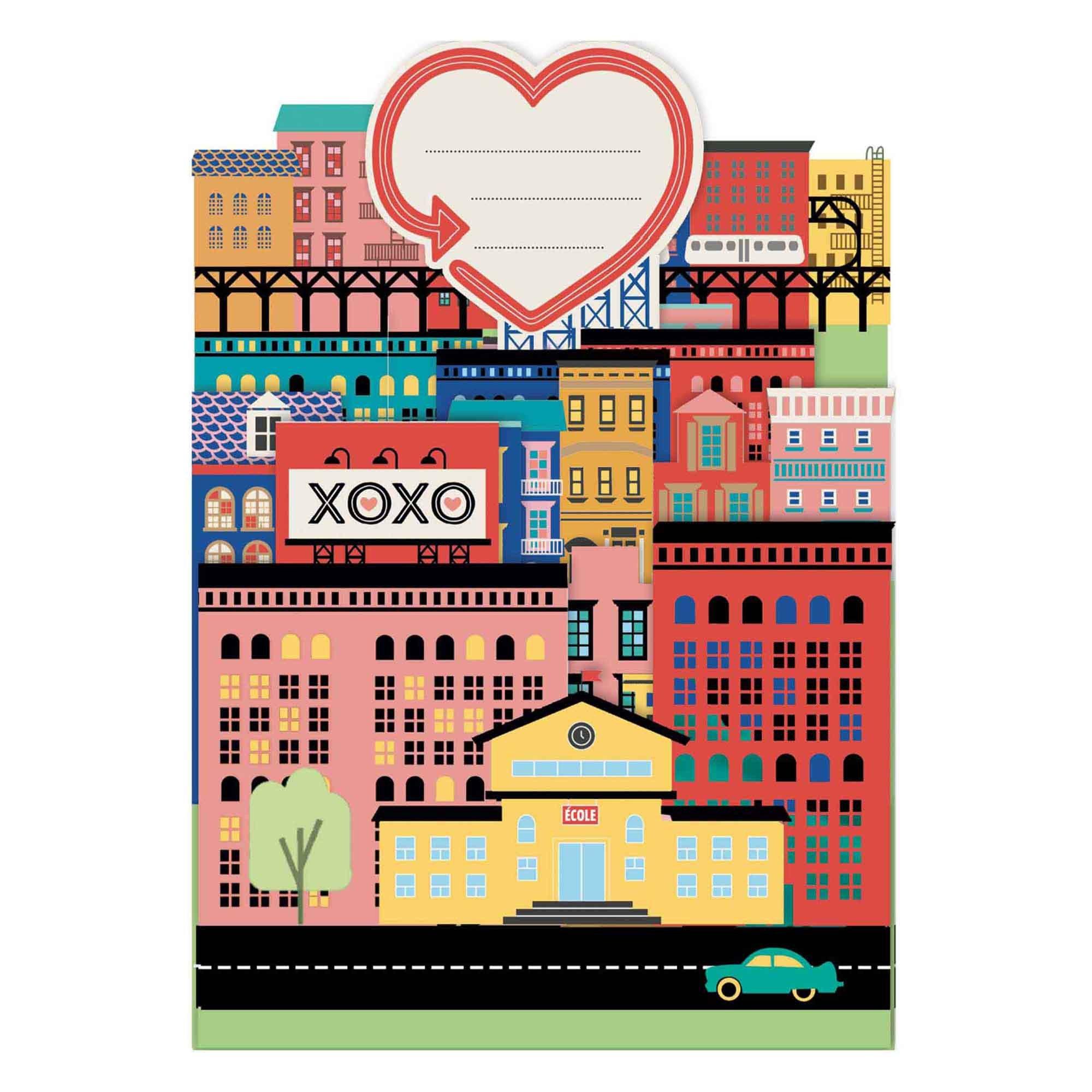 Carte pop-up 3d city