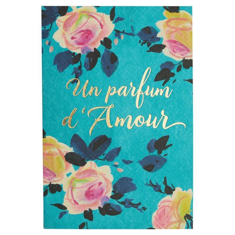 Carte de voeux un parfum d'amour