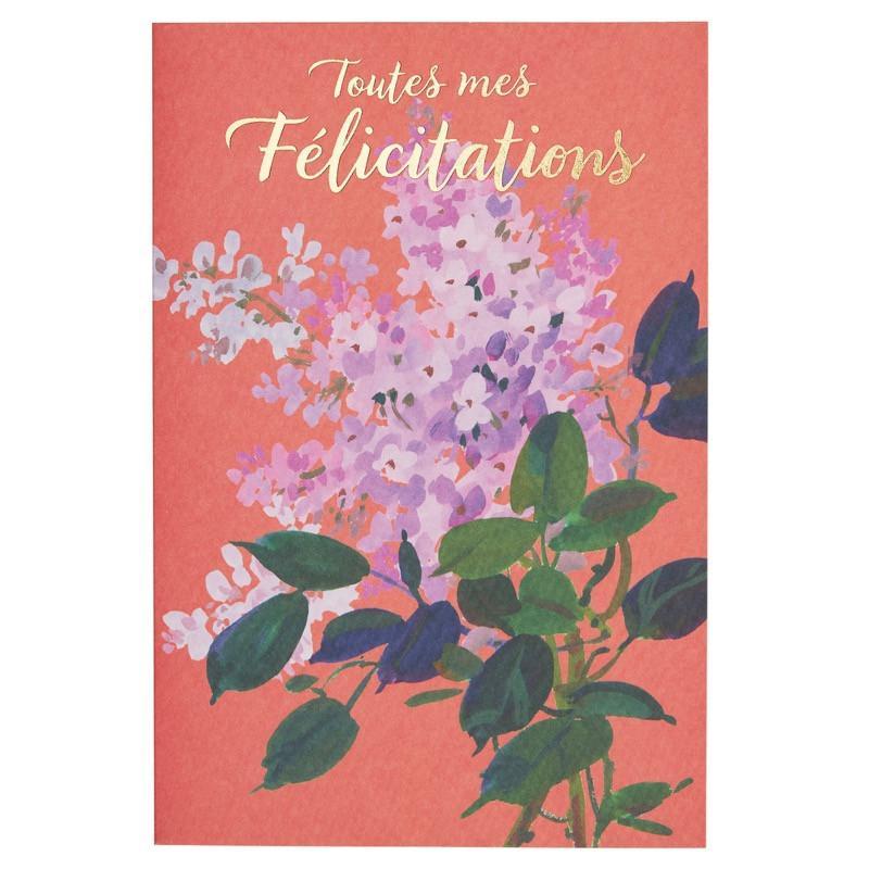 Carte de voeux toutes mes félicitations