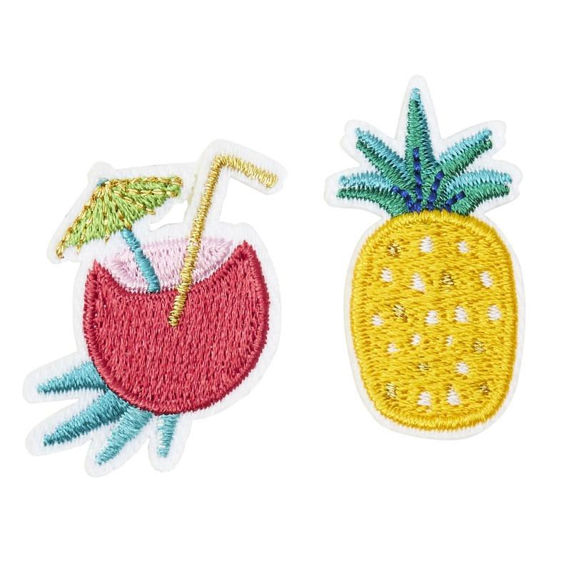 Broche brodée coco ananas