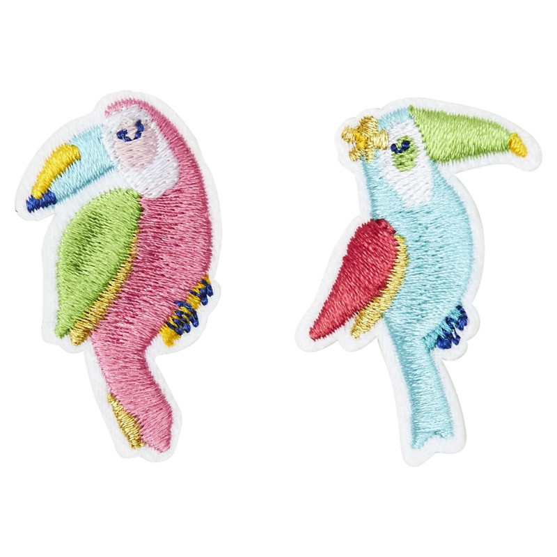 Broche brodée duo toucans