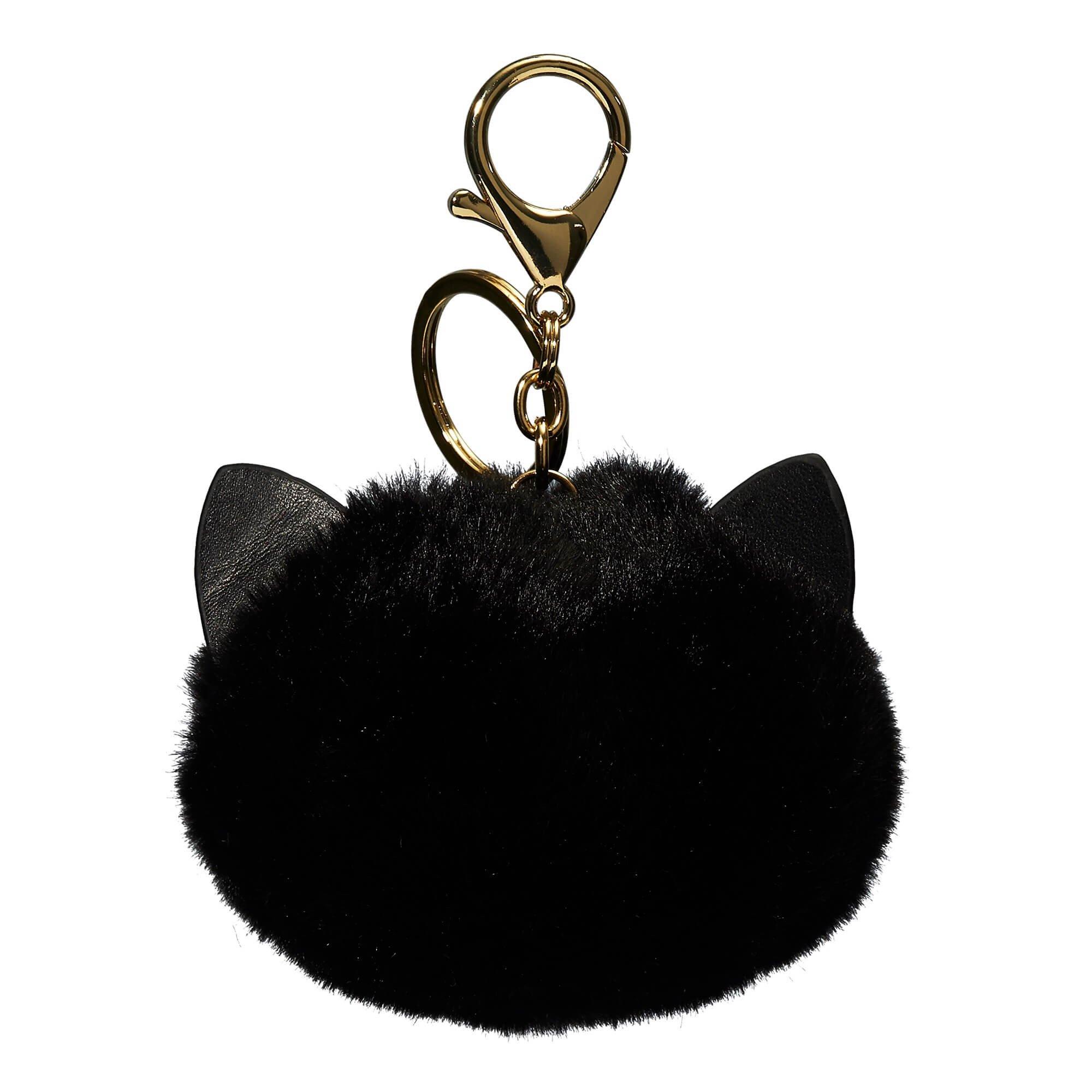 Porte-clés peluche chat