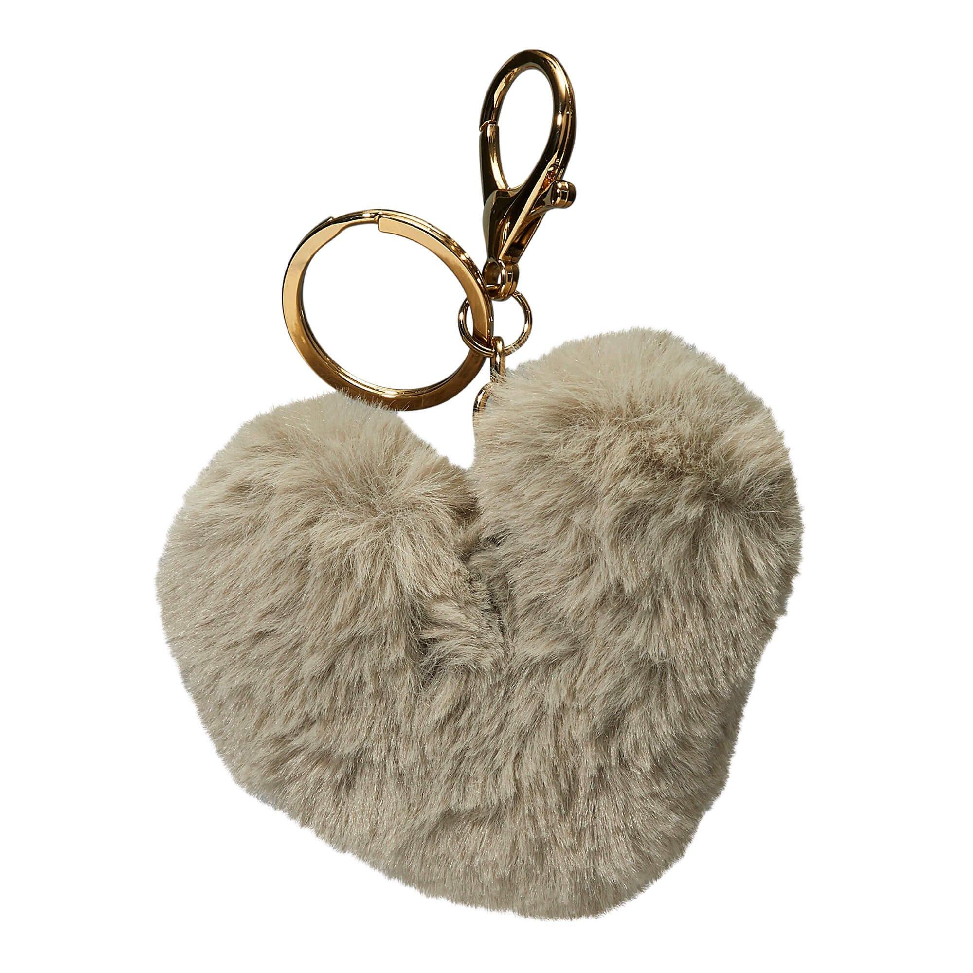 Porte-clés peluche coeur