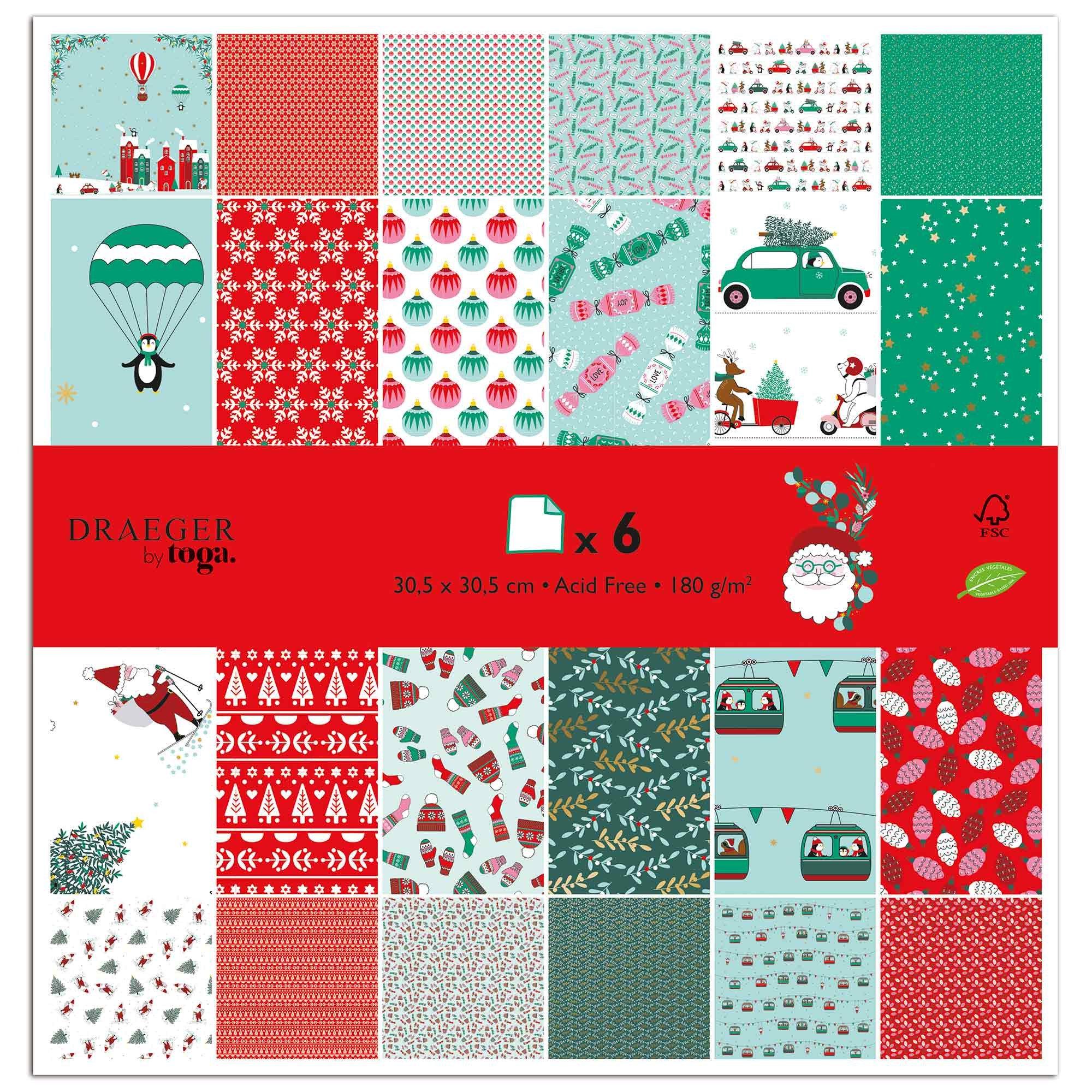 Set de papiers imprimés de Noël