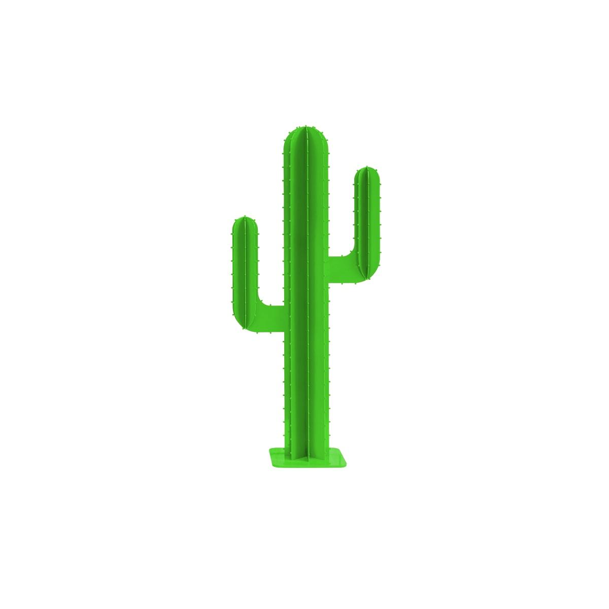 Cactus 2 branches mini en aluminium vert clair H30cm