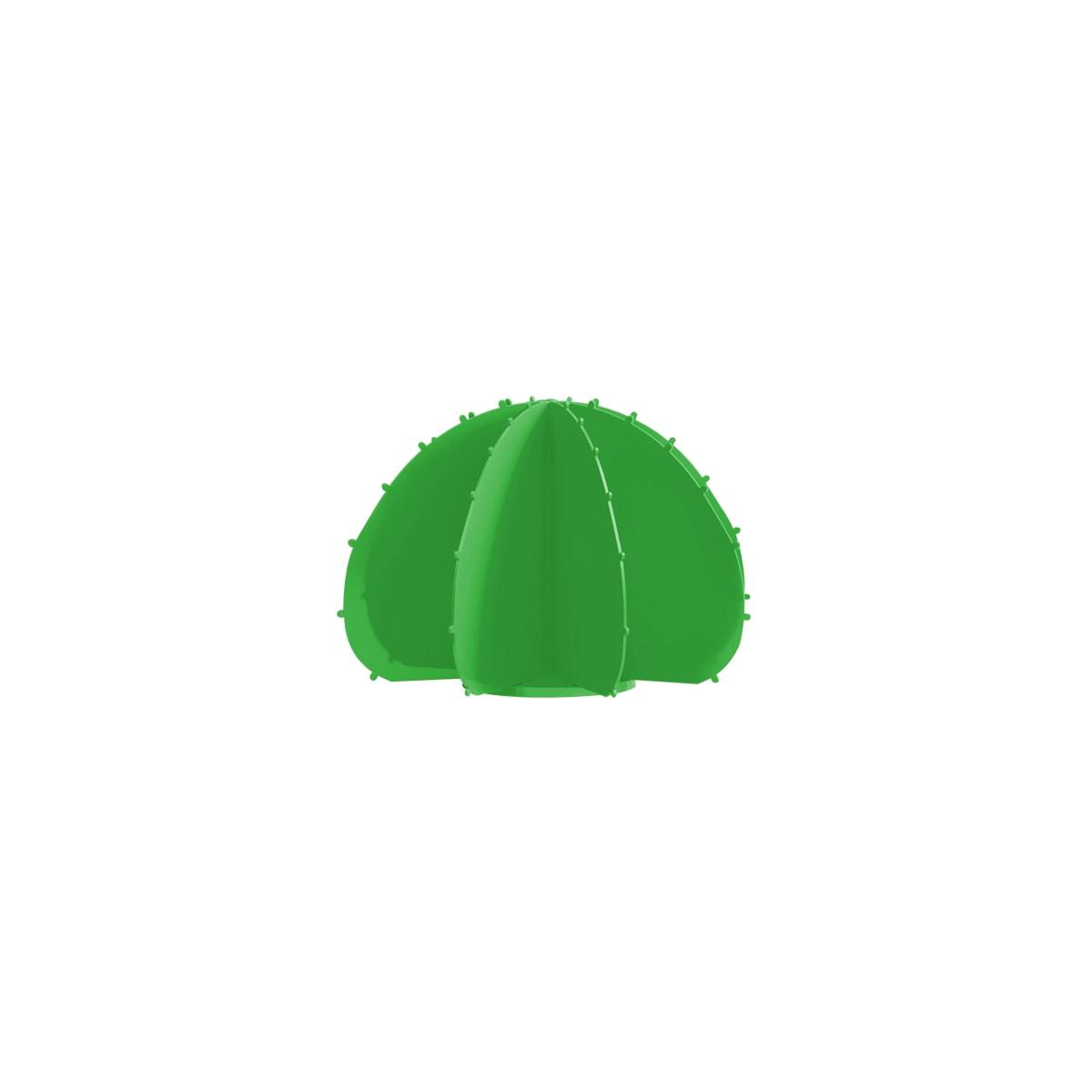 Cactus boule mini en aluminium vert D22cm