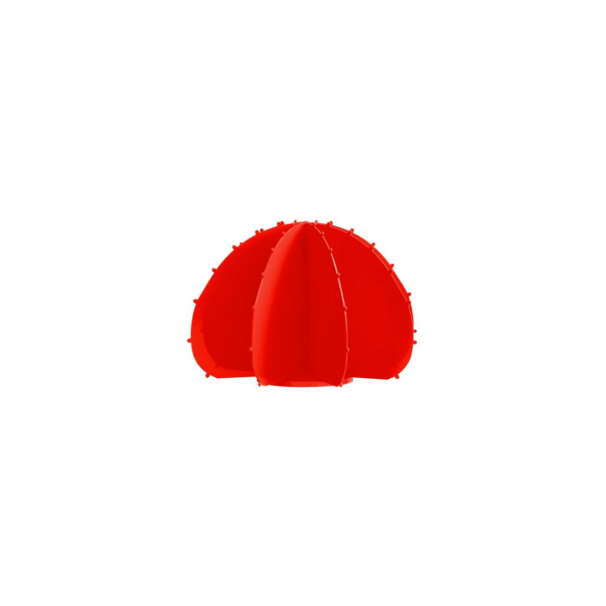 Cactus boule mini en aluminium rouge D22cm