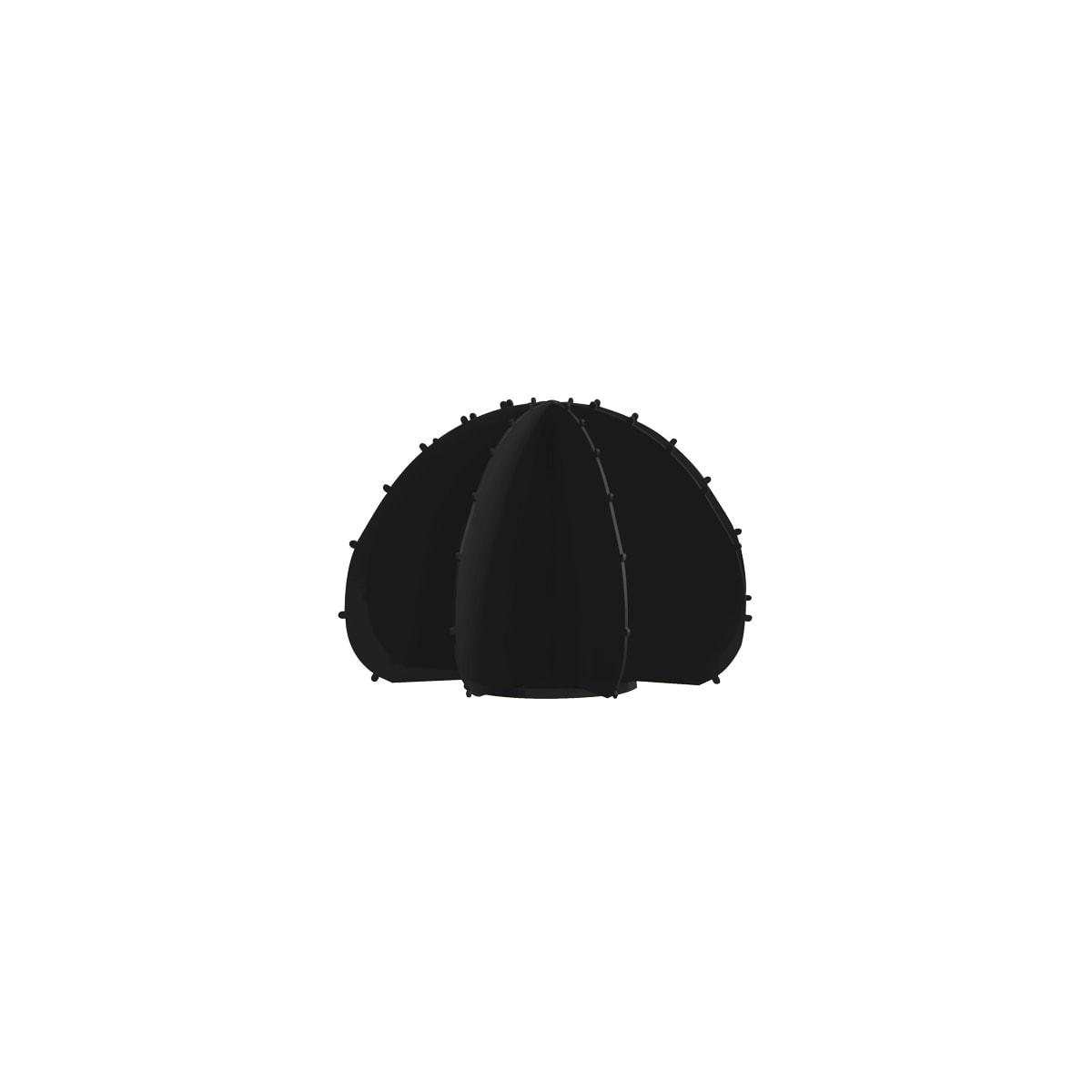 Cactus boule mini en aluminium noir D22cm