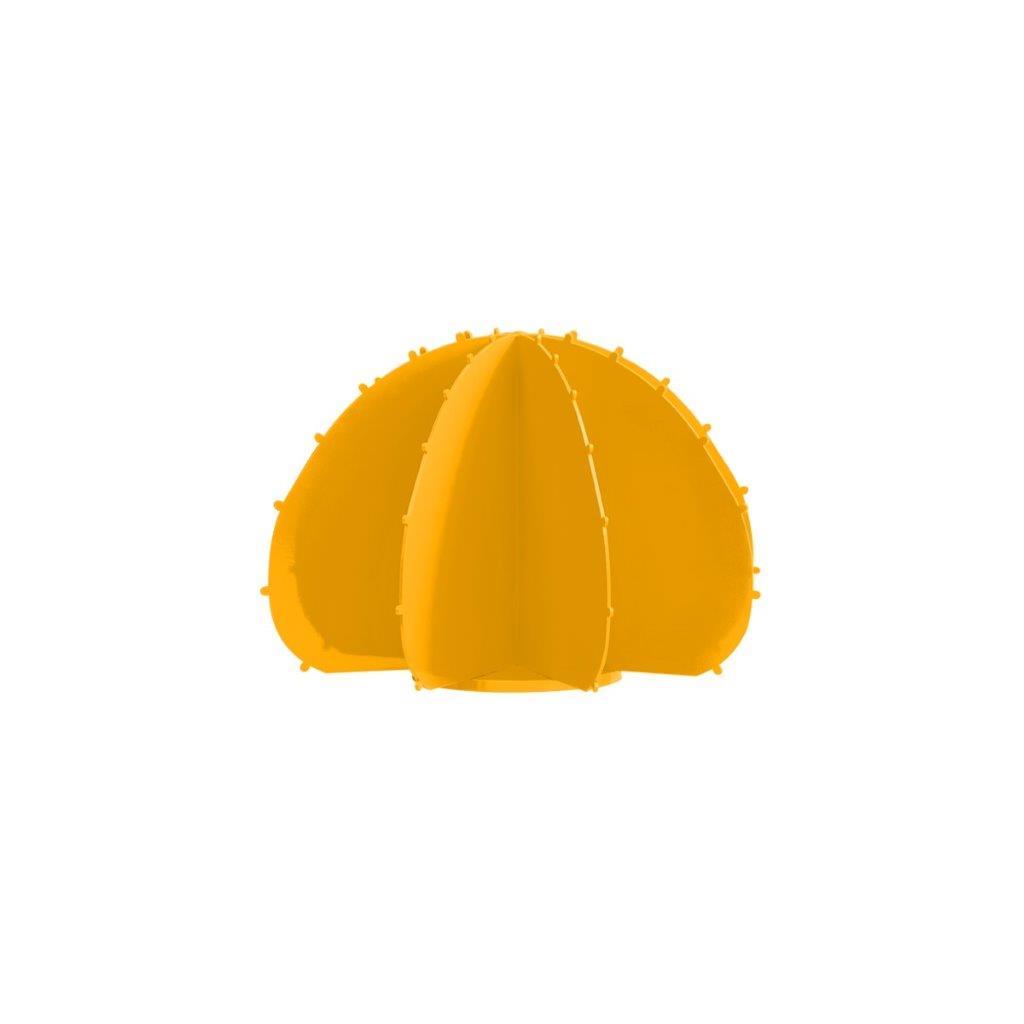Cactus boule mini en aluminium jaune D22cm