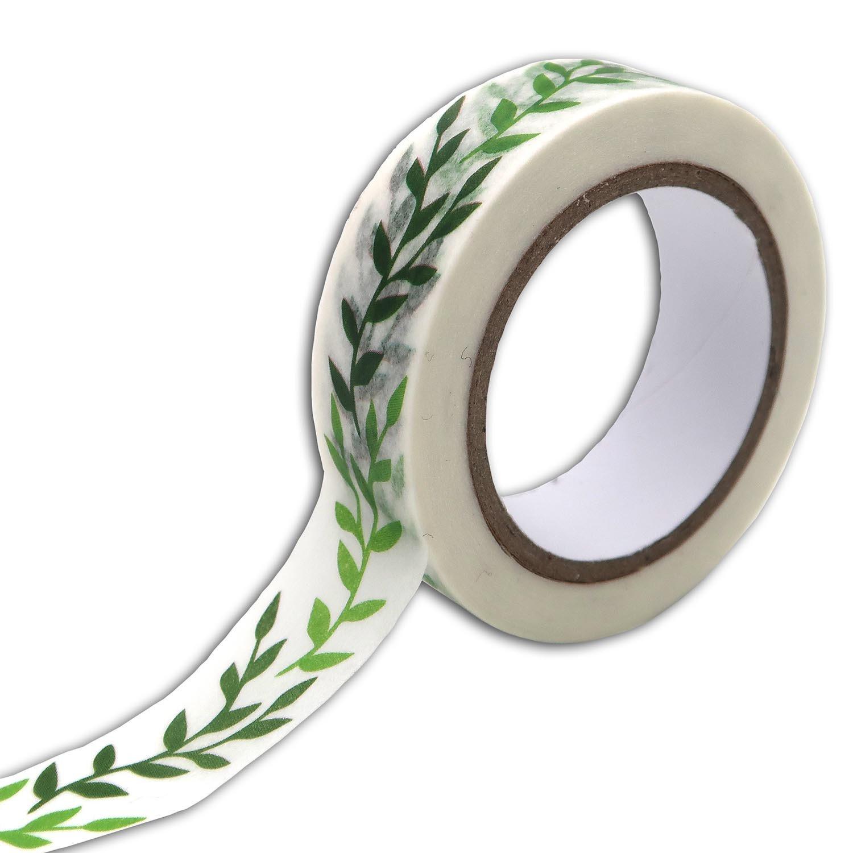 Masking tape motif feuillage