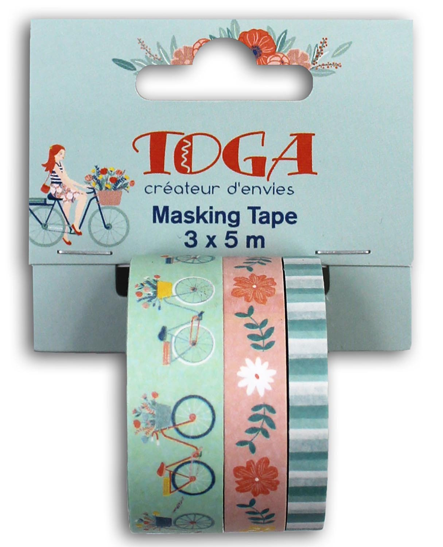 Masking tape motif pastel