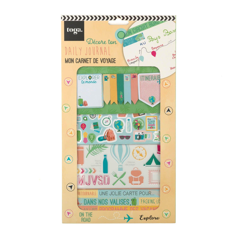 Kit de décoration bullet journal voyage