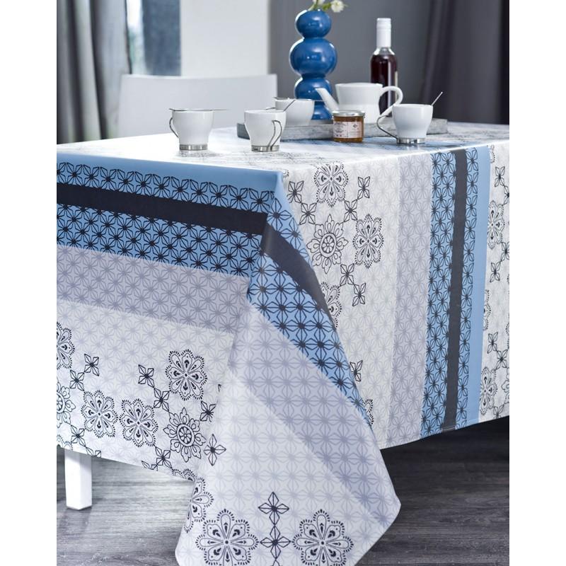 Nappe en coton enduit PVC encre 160x250 cm
