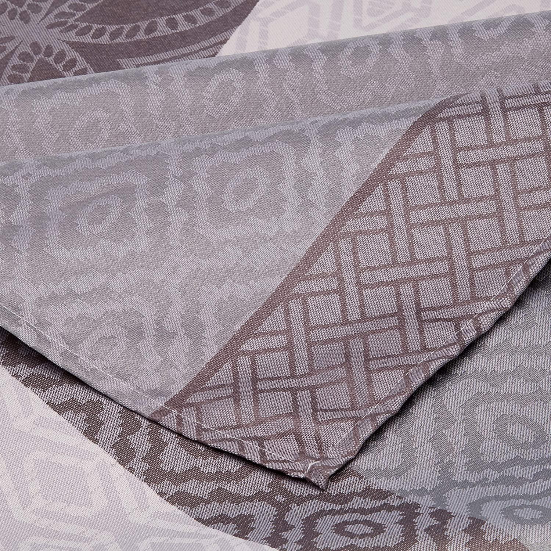 Nappe jacquard enduit acrylique gris 160x300 cm