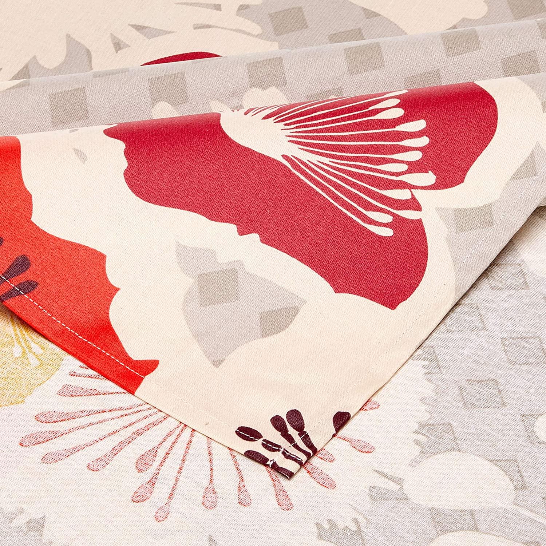 Nappe en coton enduit PVC multicolore ronde 160 cm