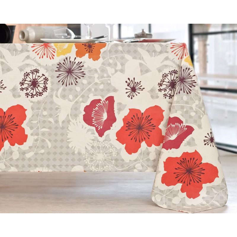 Nappe en coton enduit PVC multicolore 160x160 cm