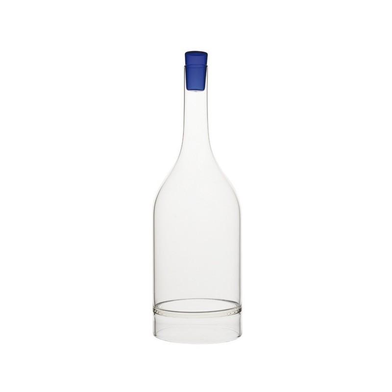 Carafe à décanter 75cl surélevée verre haute qualité bleu