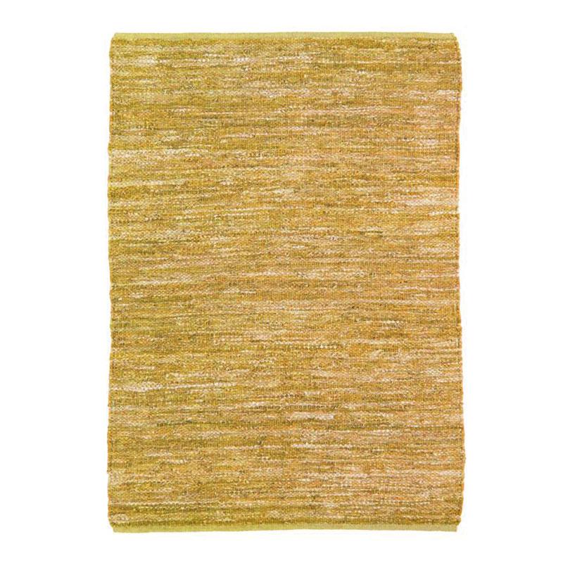 Tapis en cuir tressé jaune 120x170