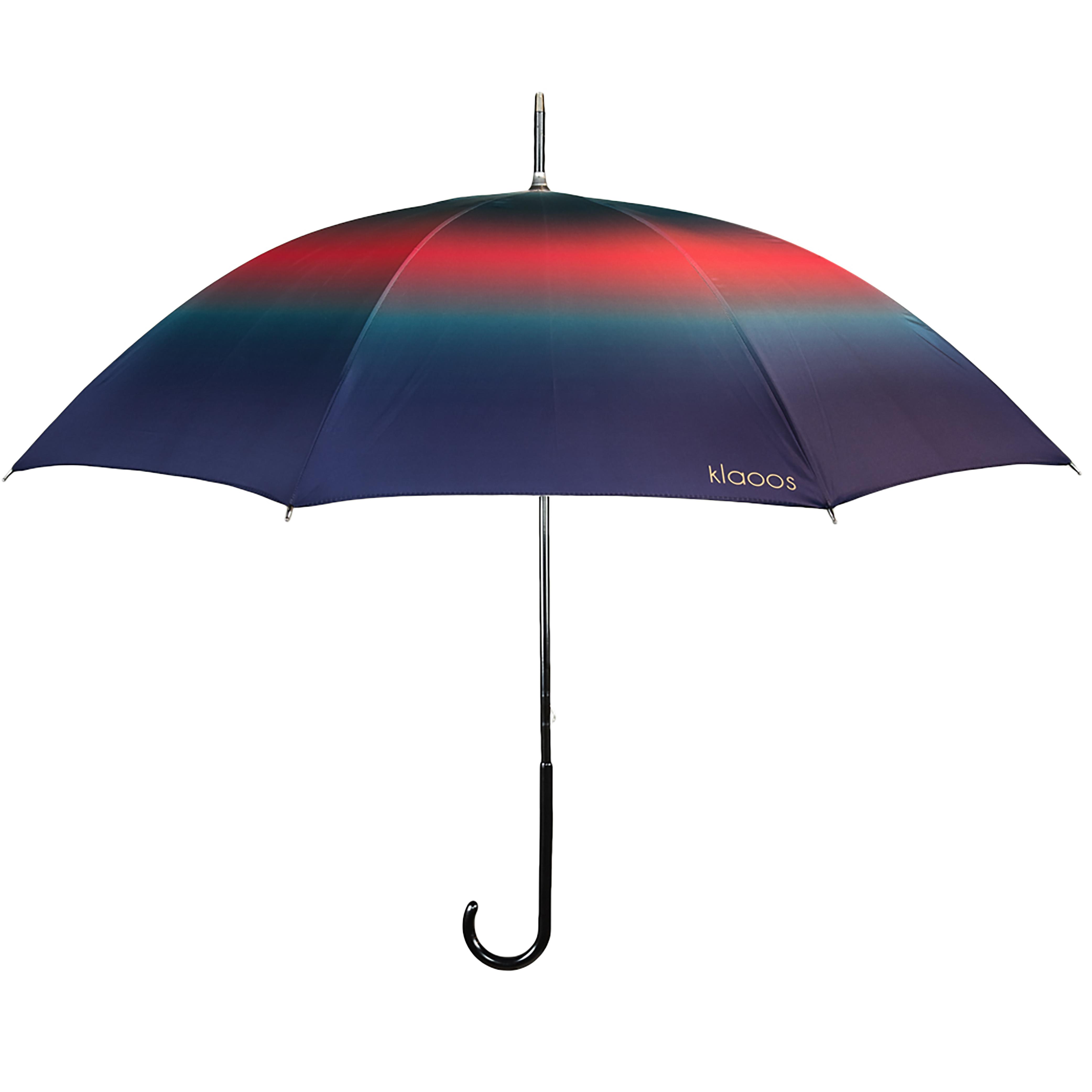 Parapluie en textile recyclé bleu cerise