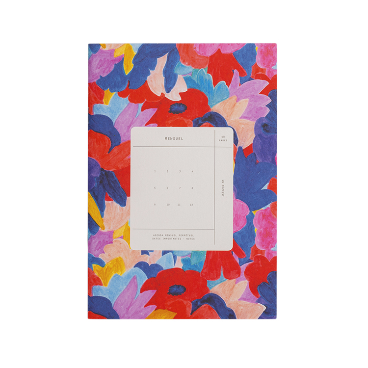 Mensuel imprimé fleuris