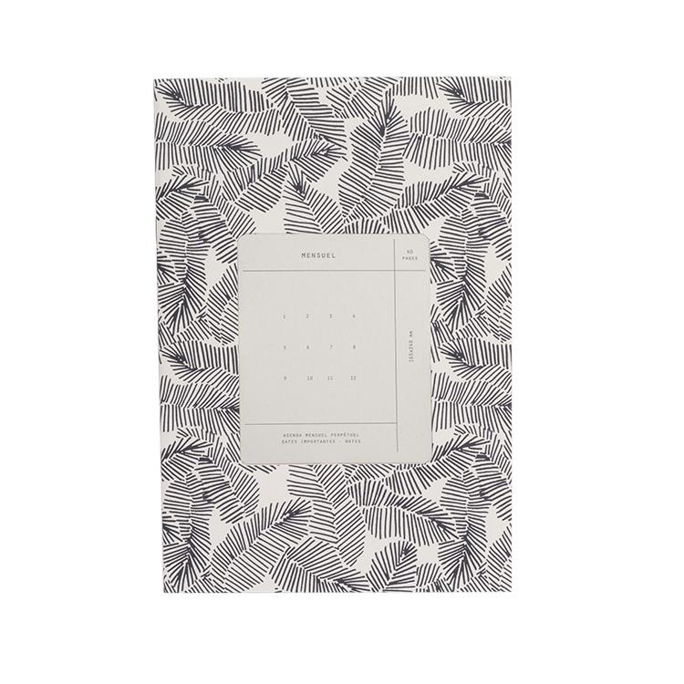 Mensuel imprimé feuilles tropicales