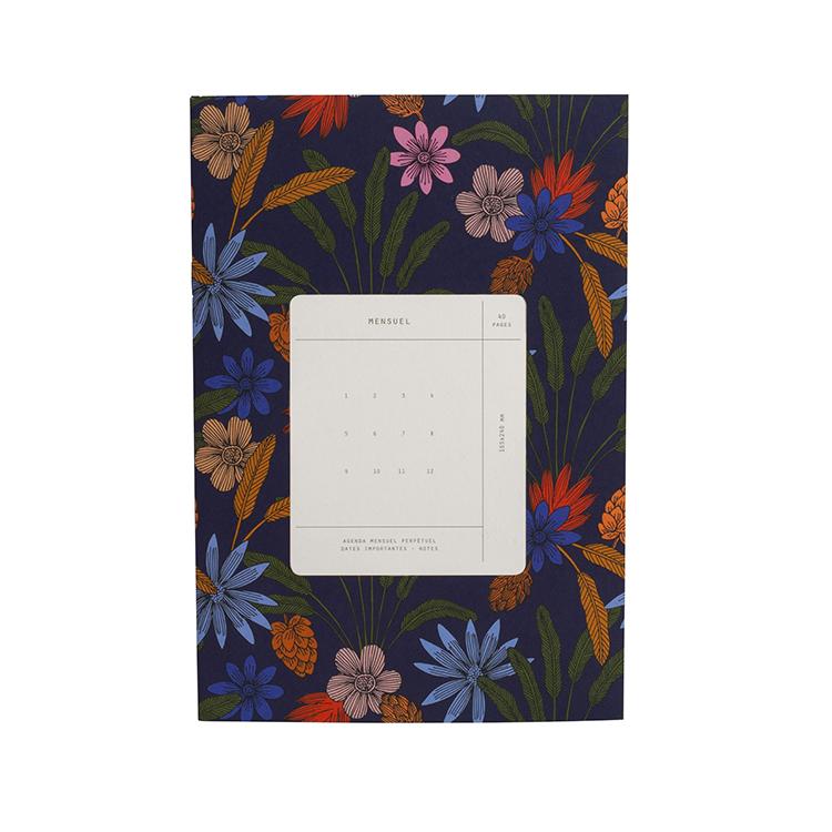 Mensuel imprimé fleurs