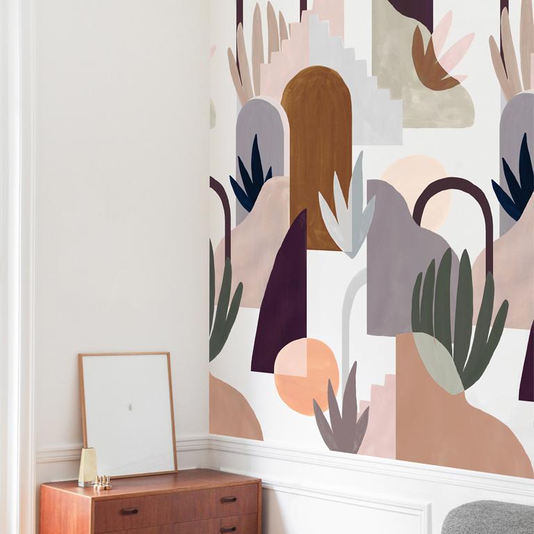 Rouleau de papier peint graphique