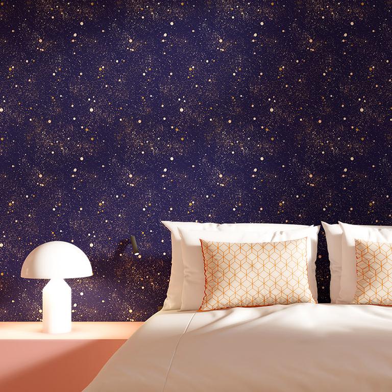 Rouleau de papier peint imprimé ciel étoilé
