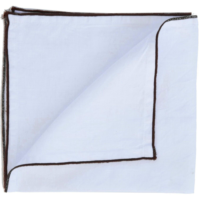 2x Serviettes en lin lavé 45x45 Blanc et noir