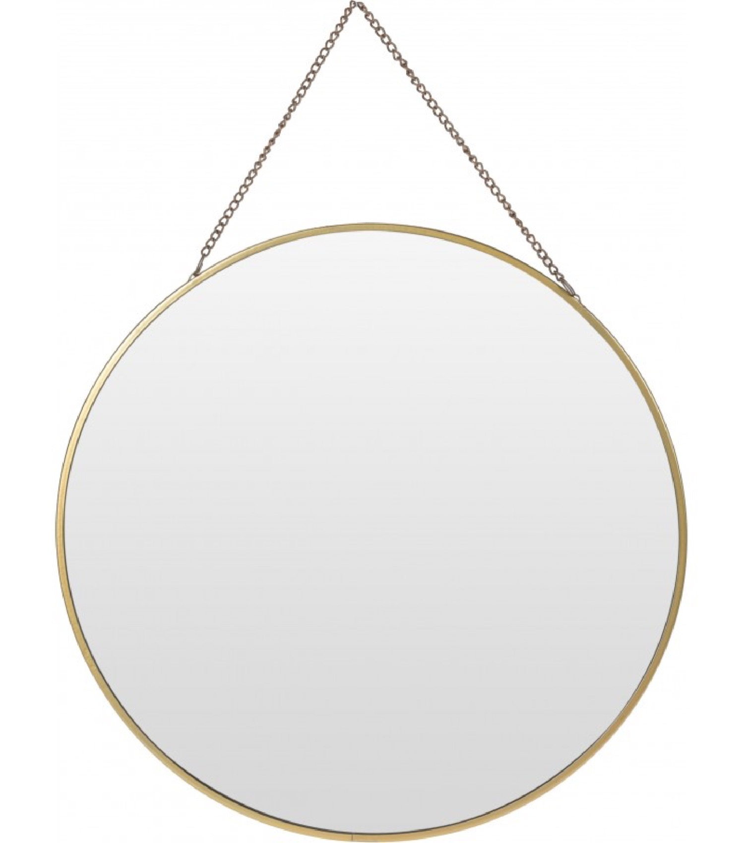 Miroir doré suspendu avec chaînette D29