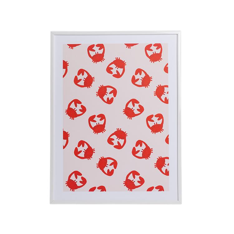 Affiche A3 imprimée petits crabes 30x40