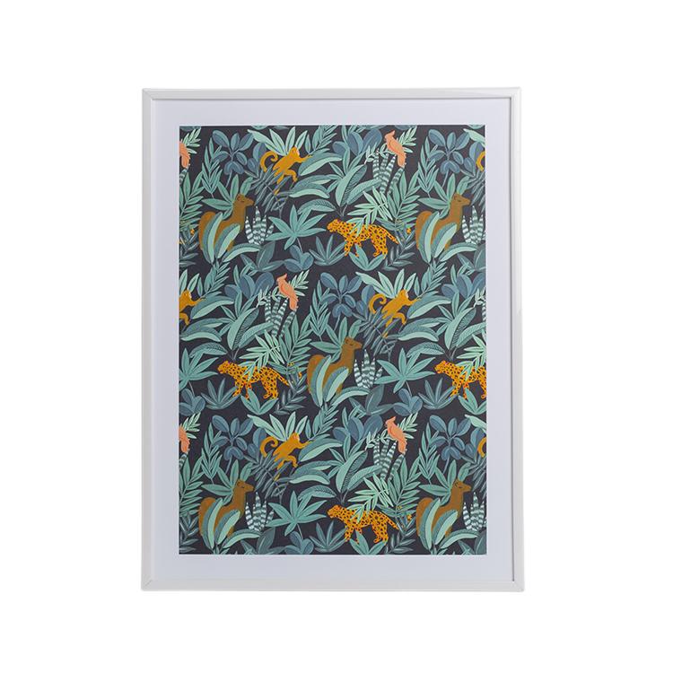 Affiche A4 imprimée guépards dans la jungle 21x30