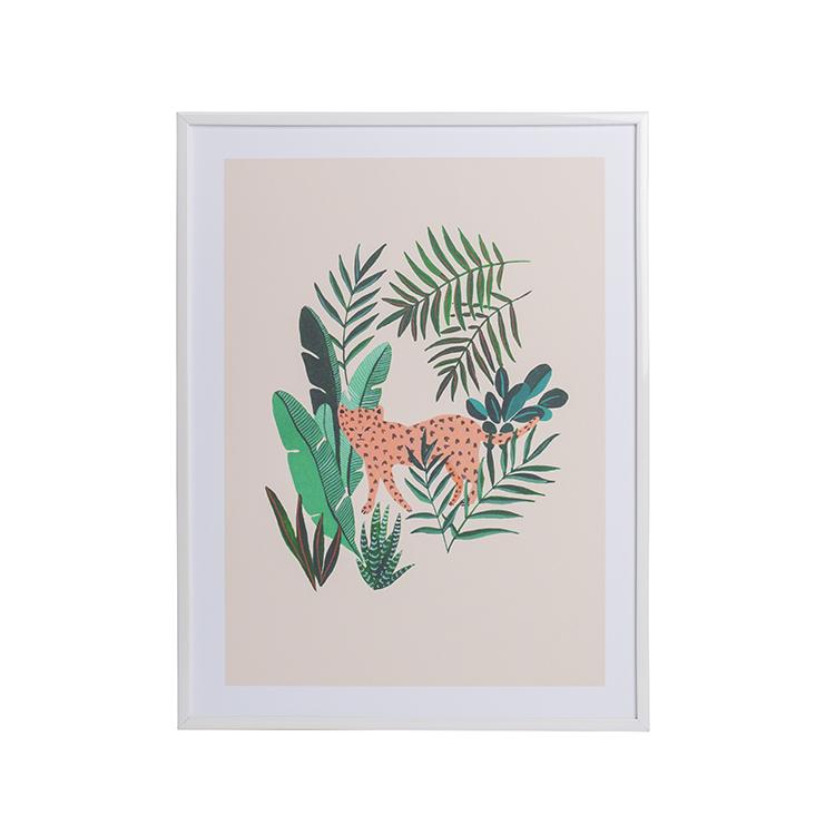 Affiche A4 imprimée  léopard 21x30