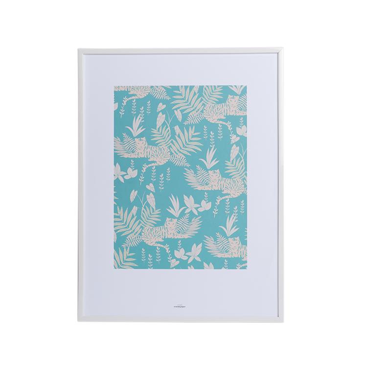 Affiche A3 imprimée guépards dans la jungle 30x40