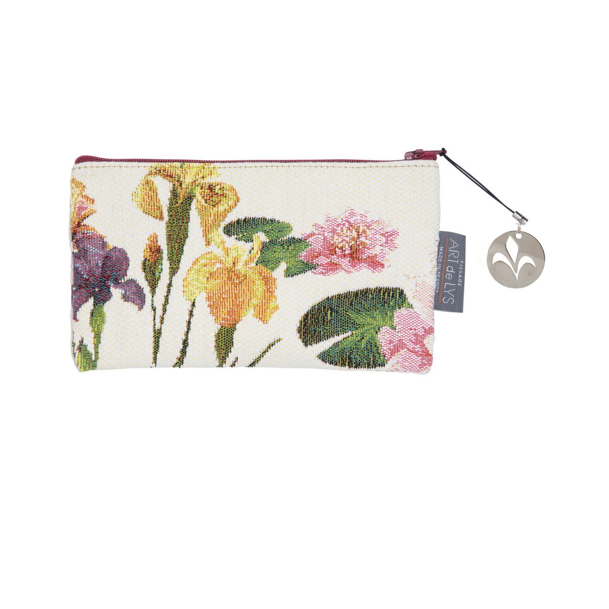 Pochette tapisserie giverny multi fleurs blanc 11x17