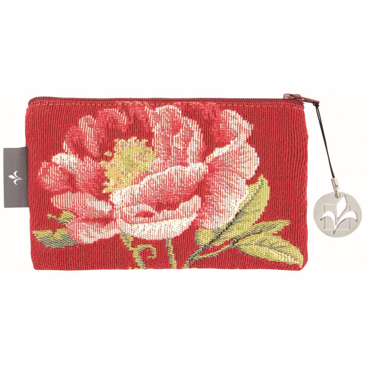 Pochette tapisserie pivoines rose 11x17
