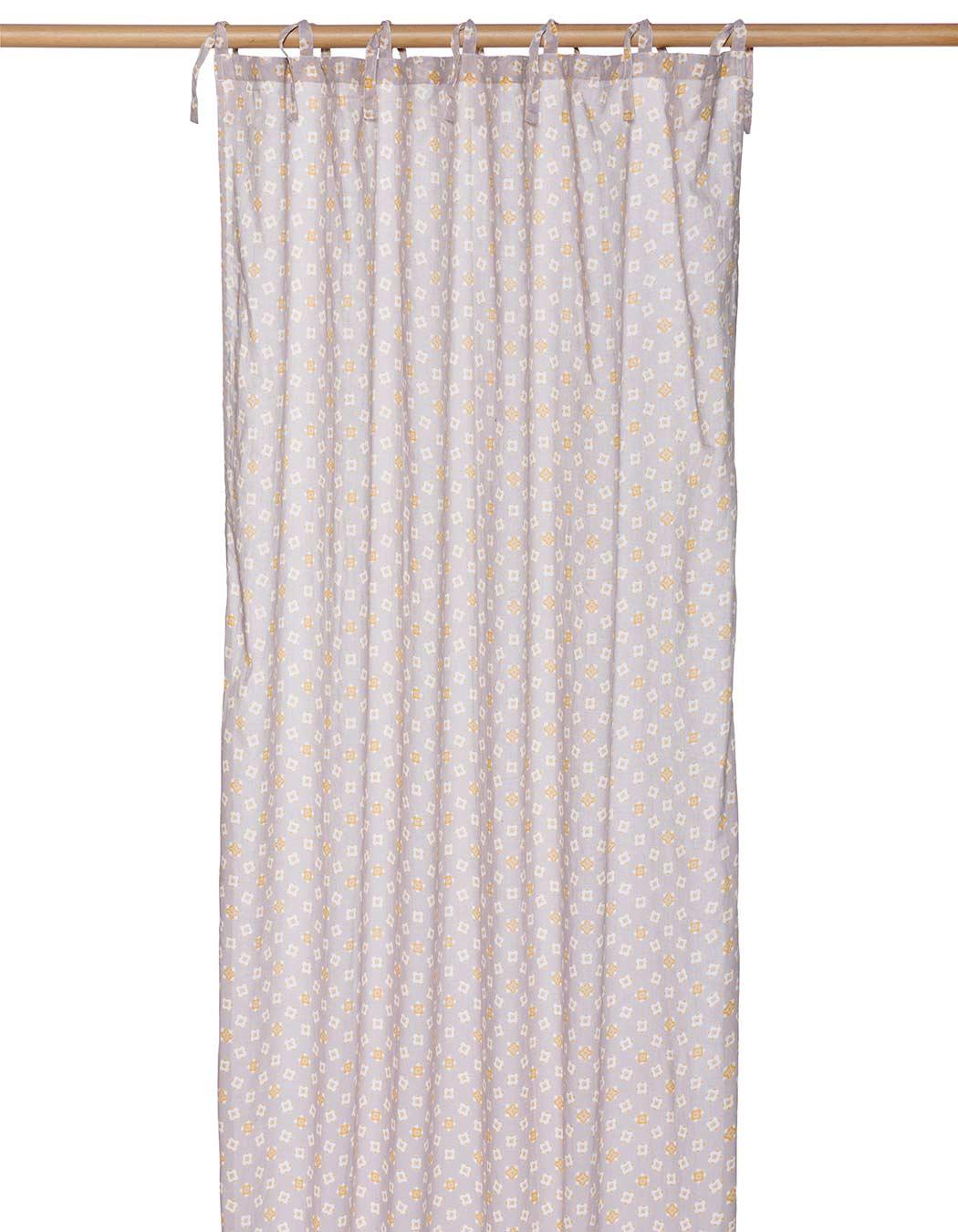 Rideau voile en coton mercure 100 x 250