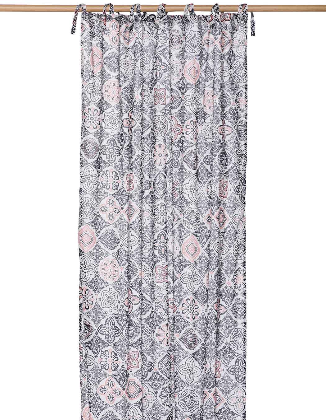 Rideau voile en coton anthracite 100 x 250