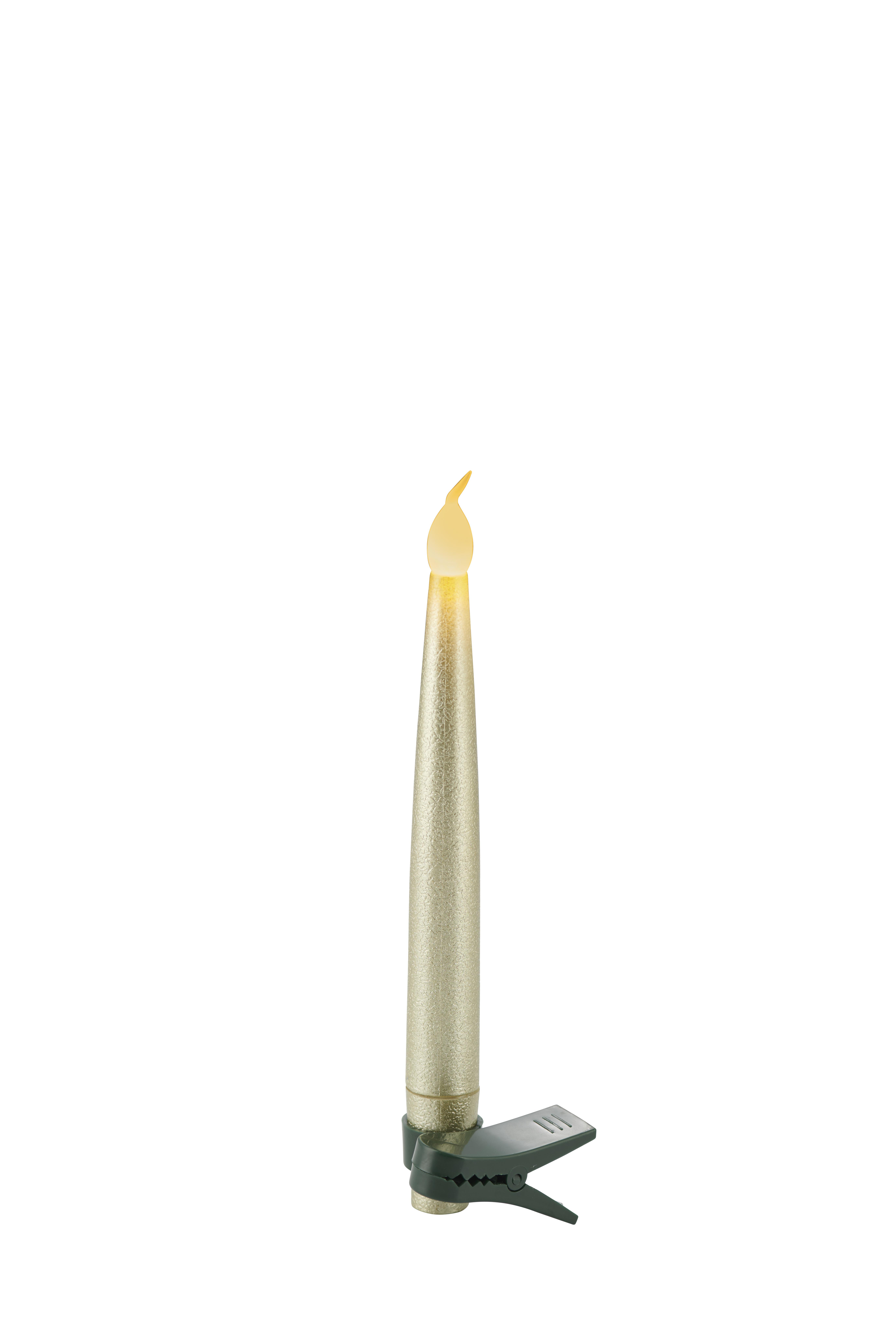 Coffret 10 bougies LED à clipser déco sapin et télécommande