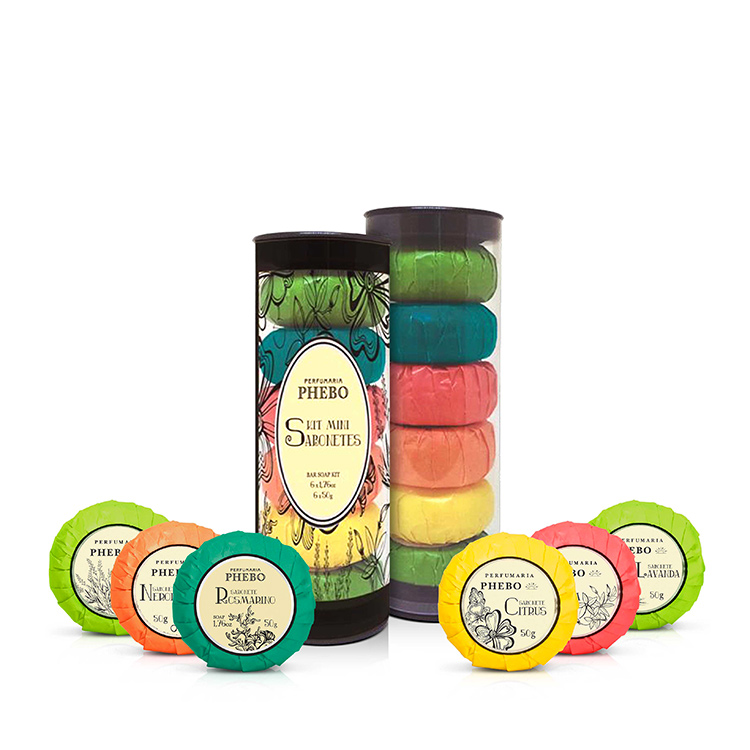AGUAS - Coffret tube avec 6 savons crémeux de base végétale