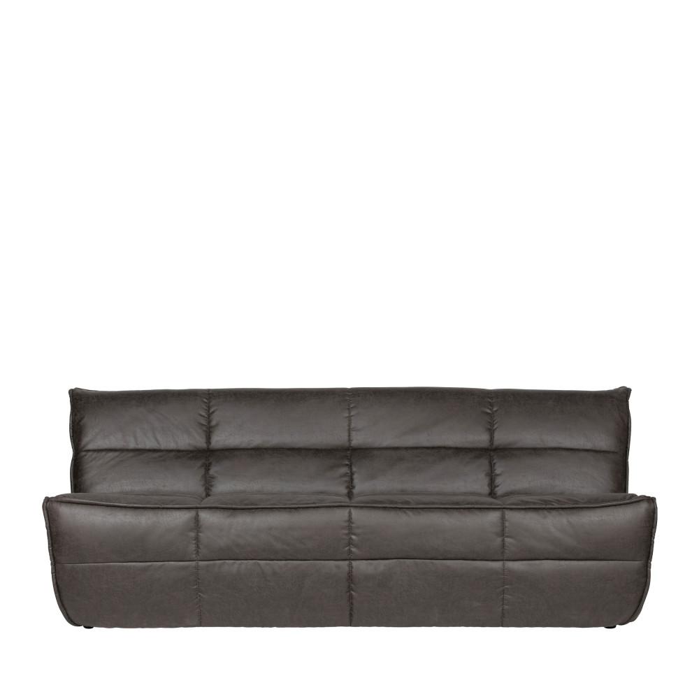 Canapé 3 places en simili gris anthracite