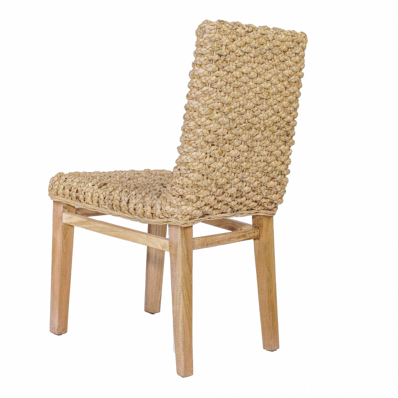 Chaise en abaca et teck