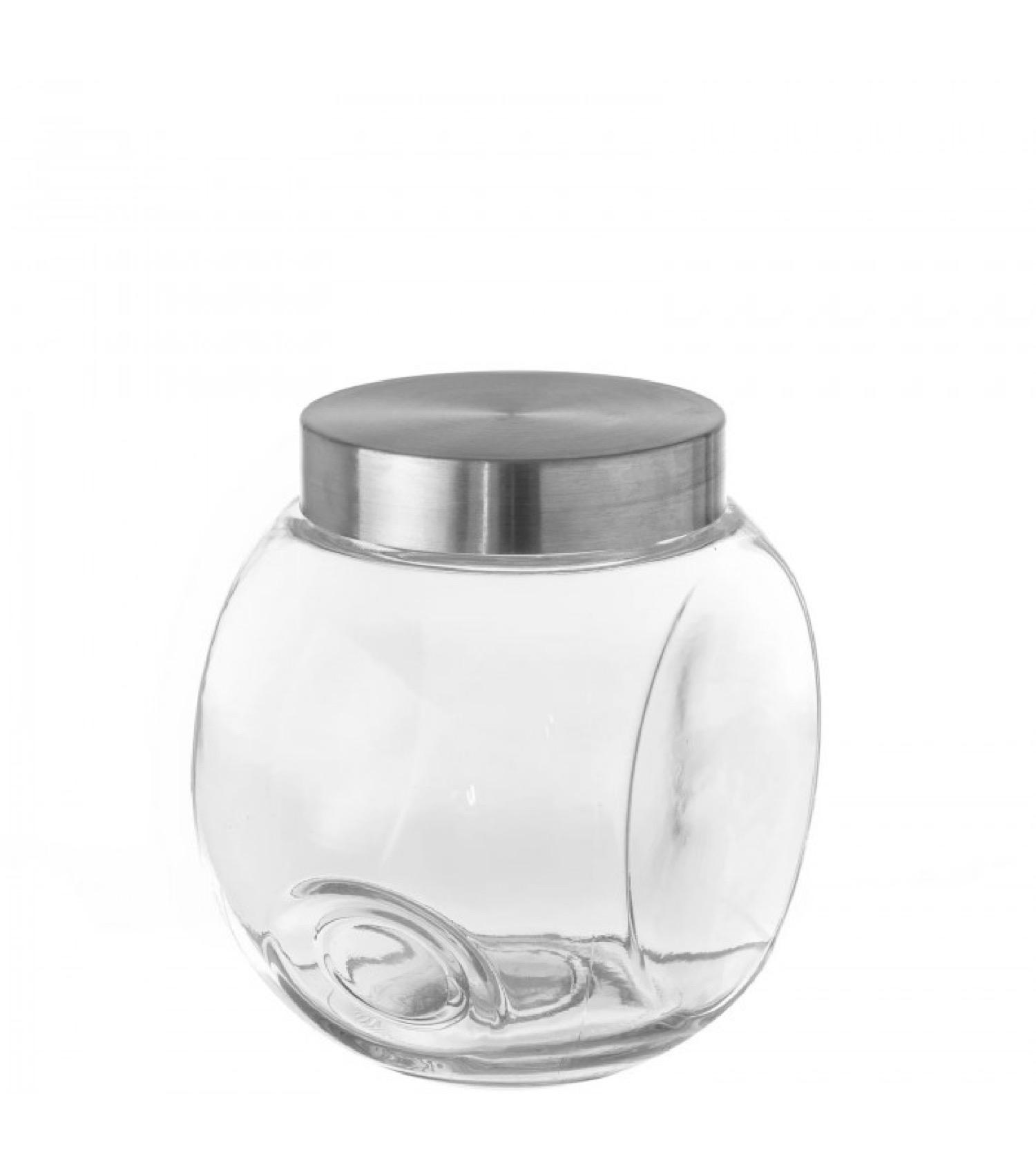 Bocal de cuisine en verre avec bouchon en inox 175cl