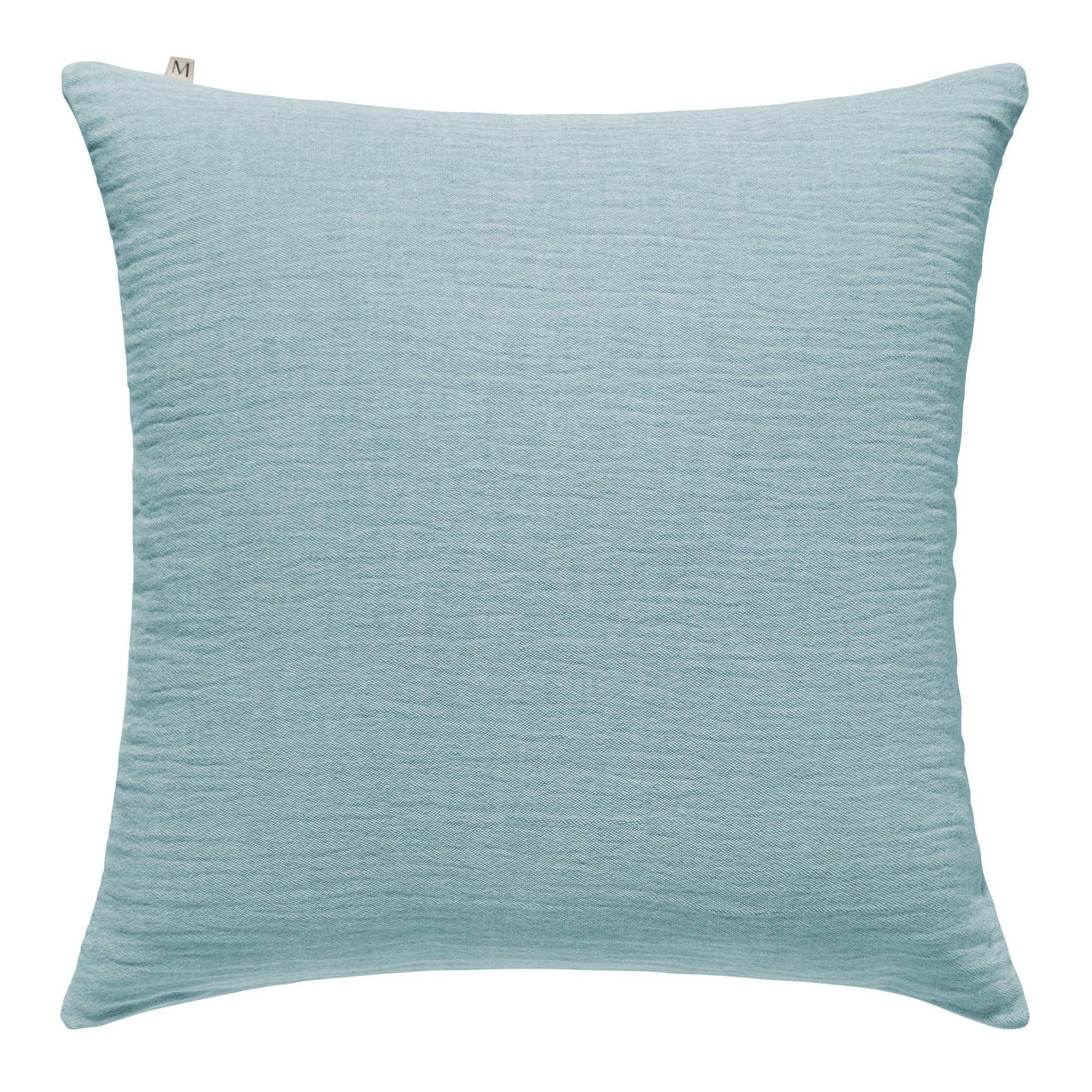 Housse de coussin 50x50 cm Bleu aigue-marine en Coton