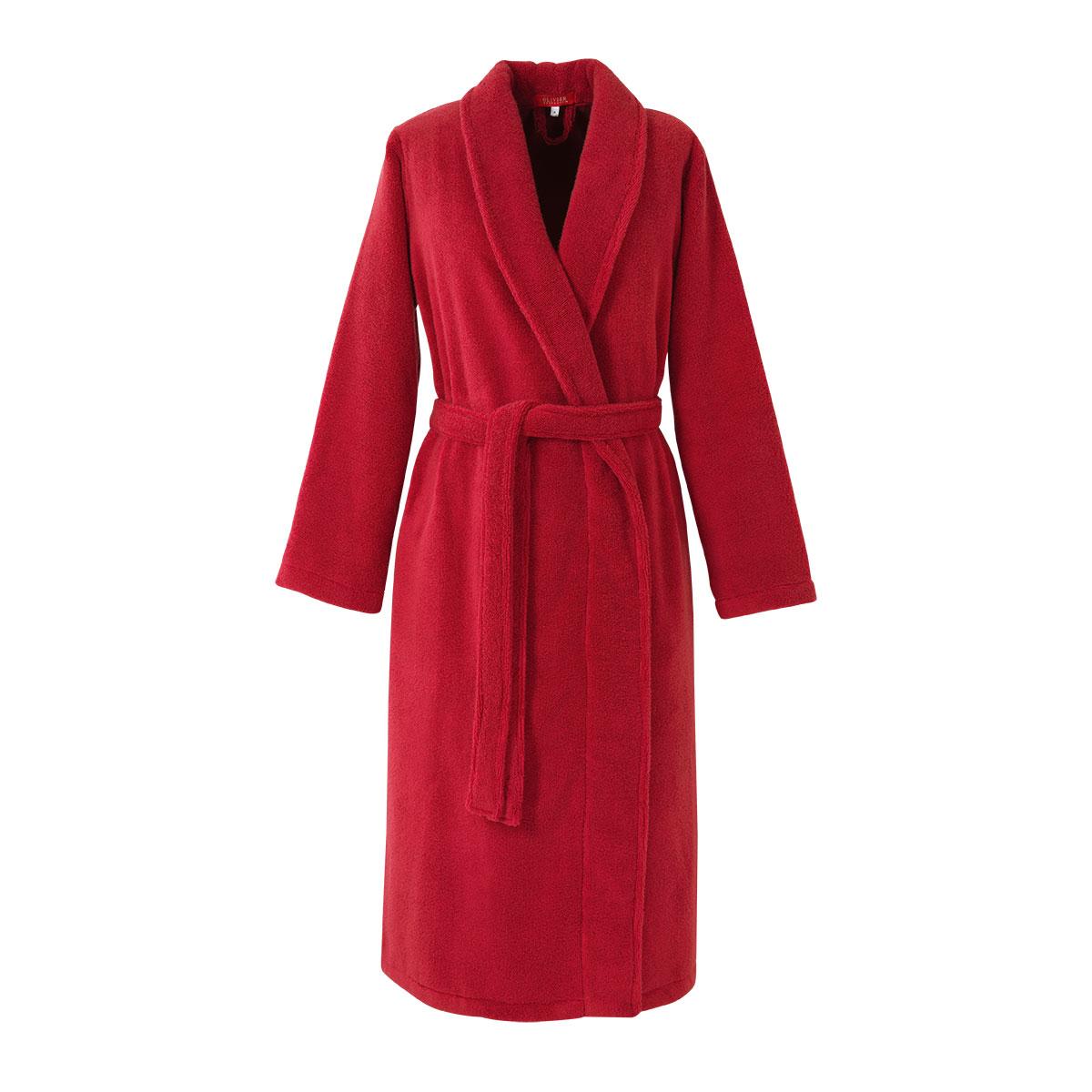 Peignoir coton peigné Rouge M